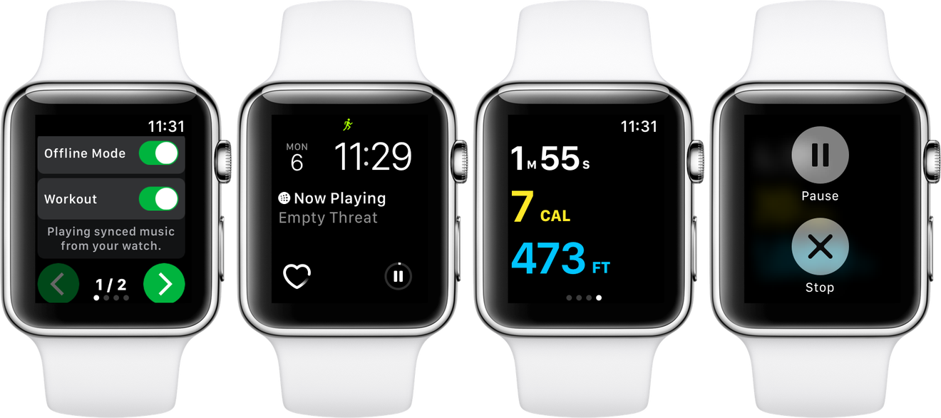 App Spotty para watchOS - Workout