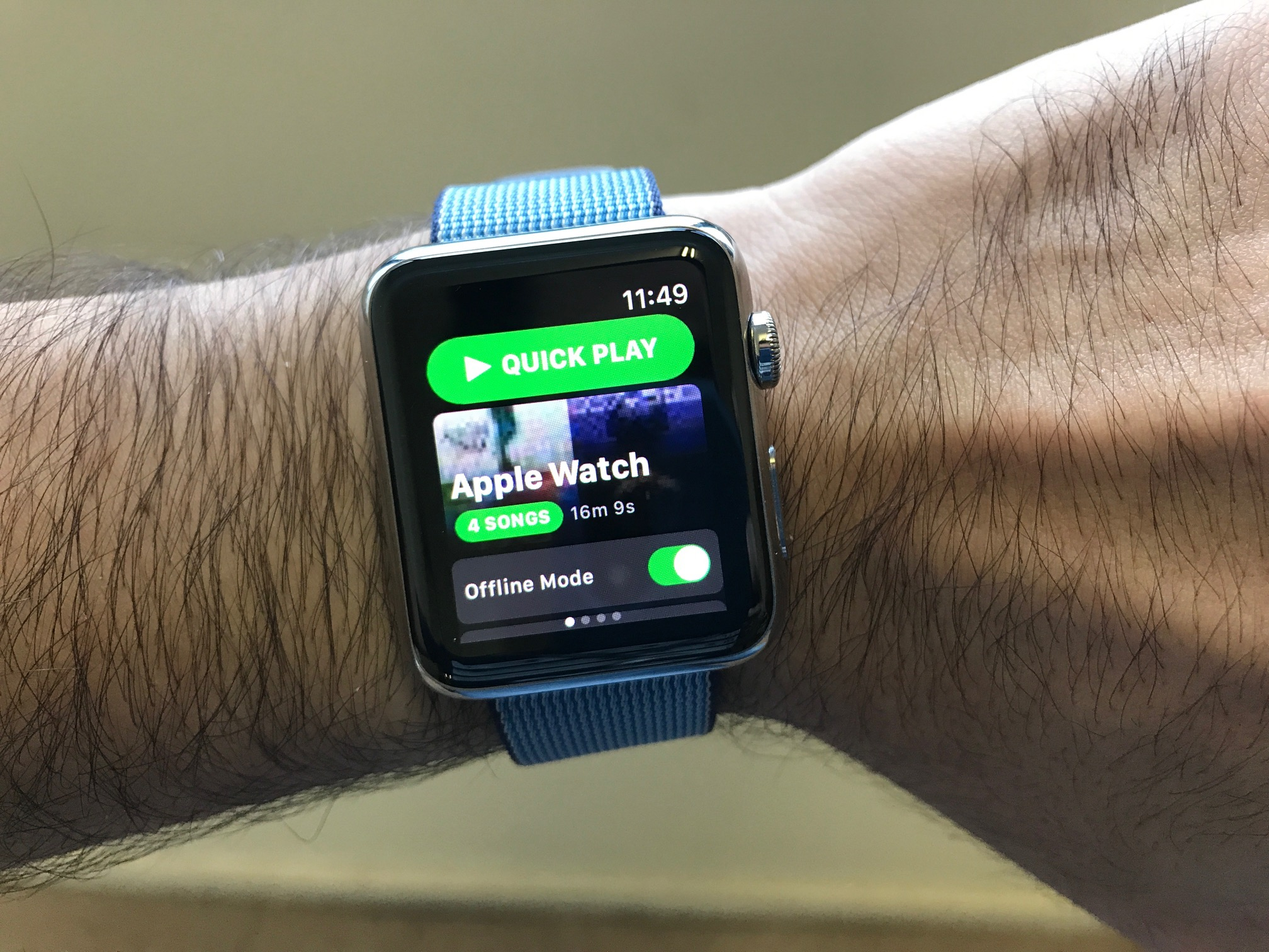 App Spotty para watchOS
