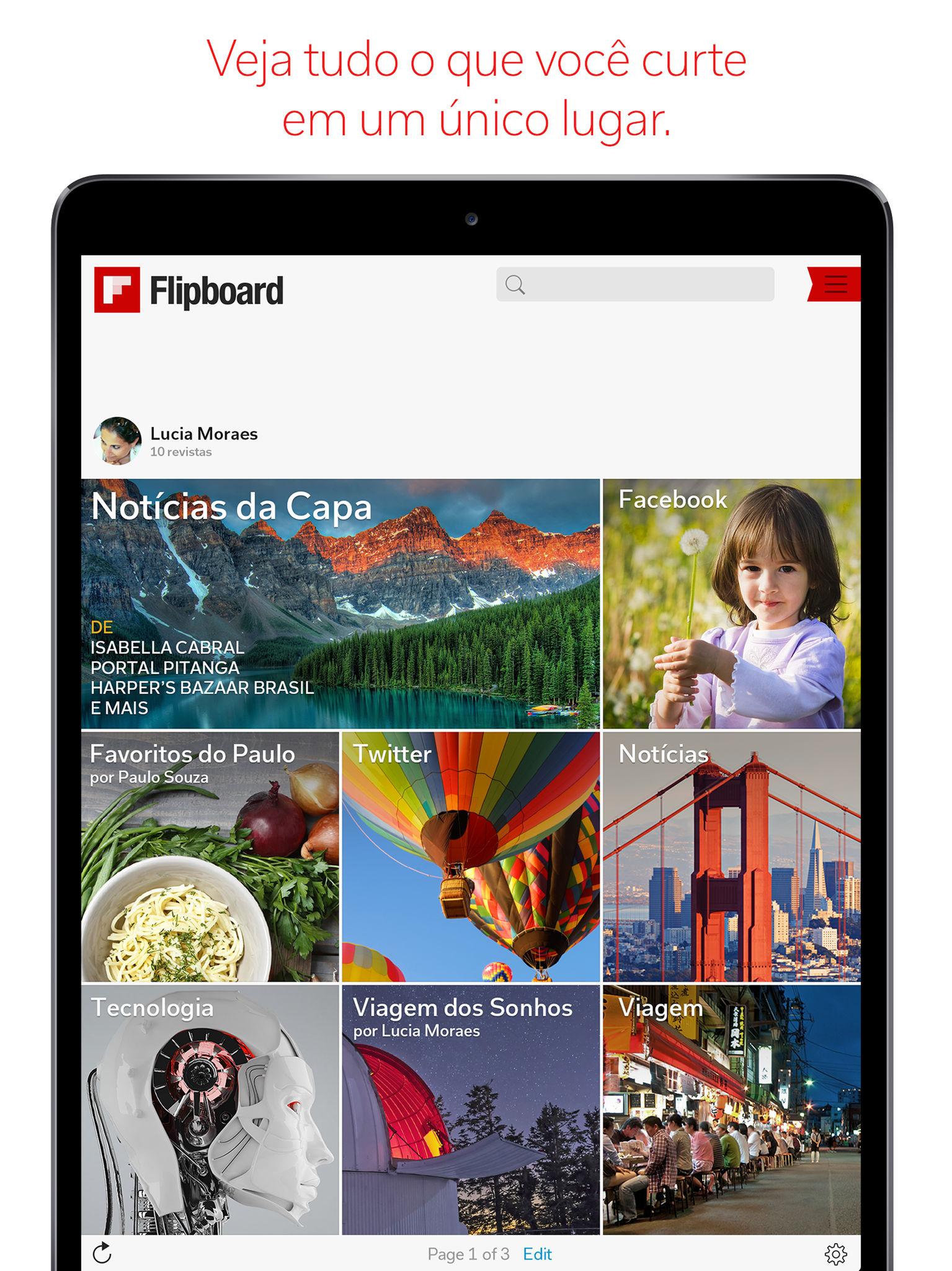 App Flipboard para iOS e watchOS