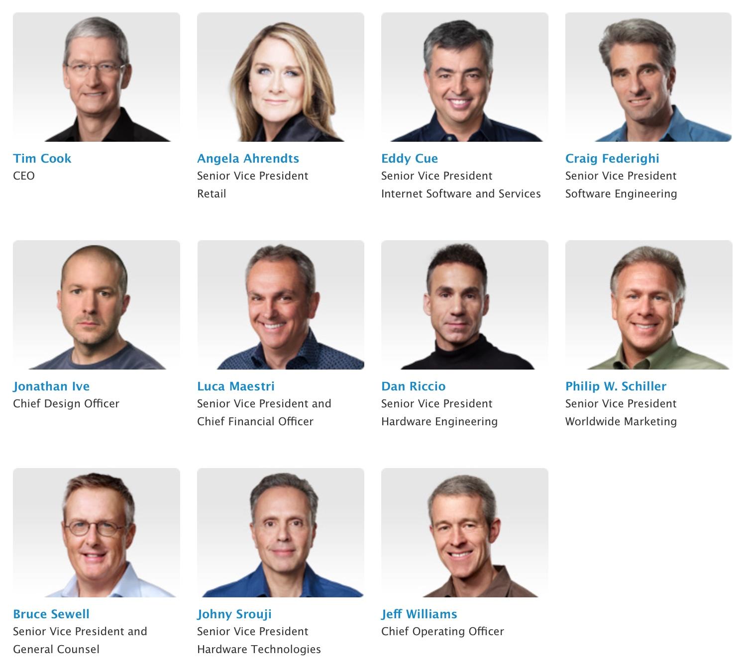 Lideranças da Apple