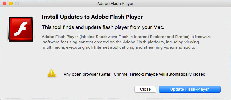 Flash Player falso