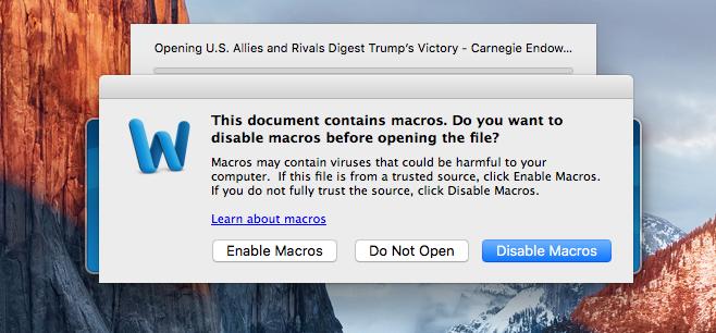 Macros no Word para Mac