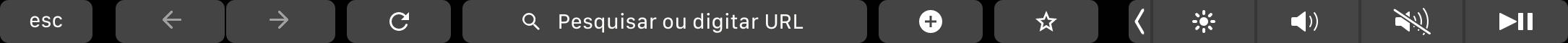 Google Chrome na Touch Bar