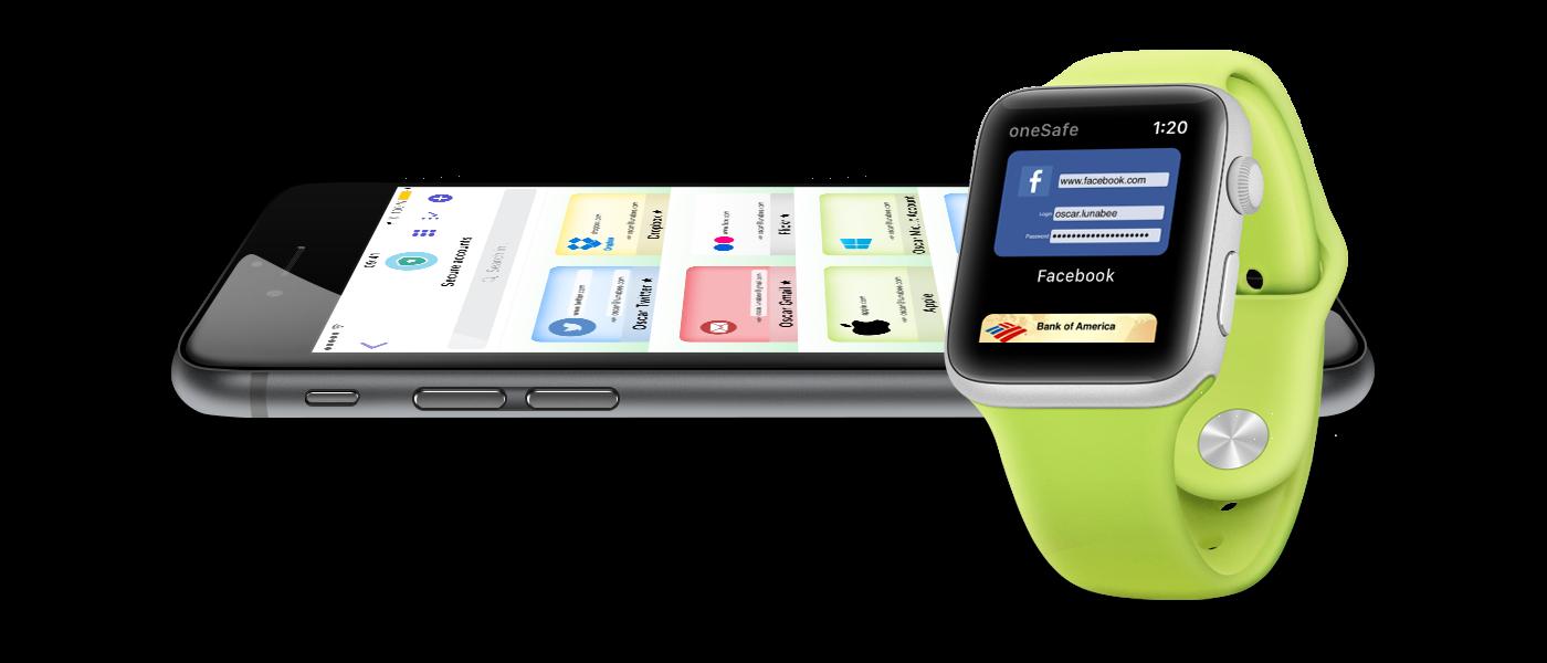 oneSafe 4 para iOS e watchOS