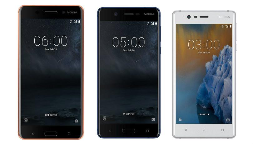 Nokia 6, 5 e 3
