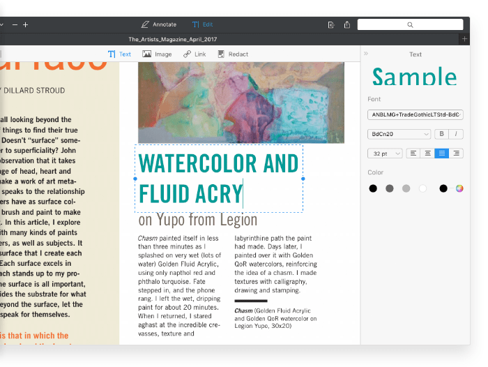 Screenshot do PDF Expert 2.2 para Mac