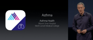 Asthma Asma e ResearchKit na keynote da Apple