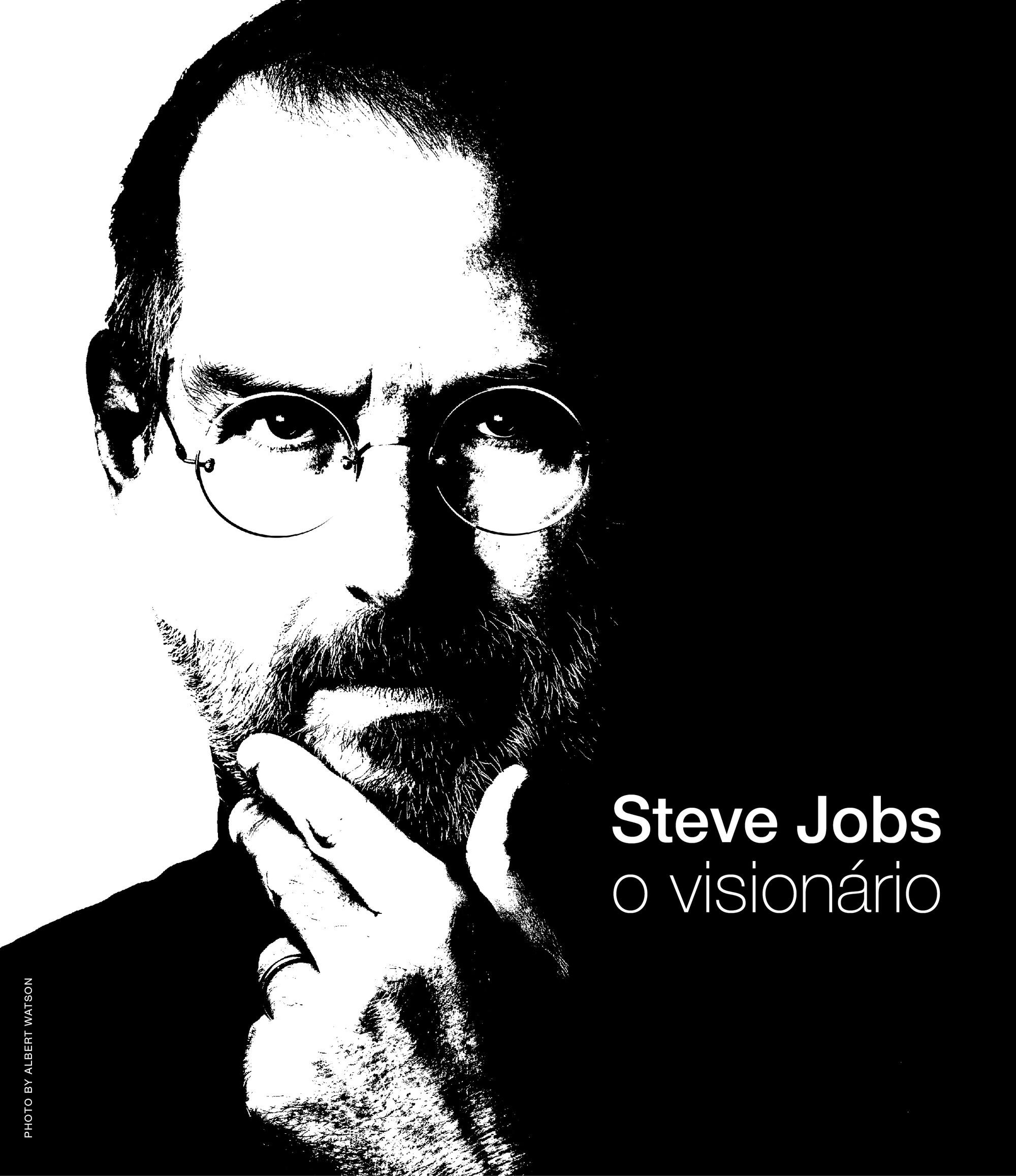 """Cartaz da exposição """"Steve Jobs, o visionário"""""""