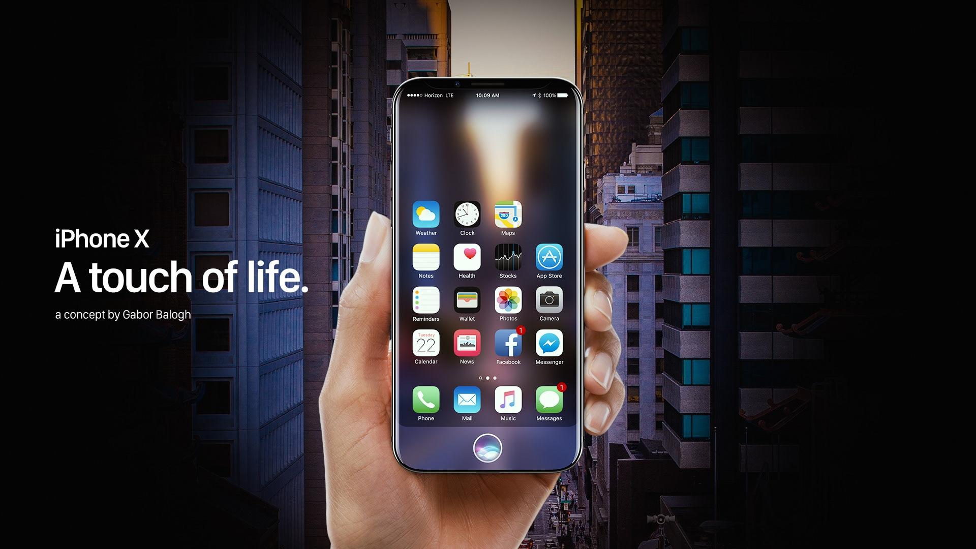 """Conceito de """"iPhone X"""""""