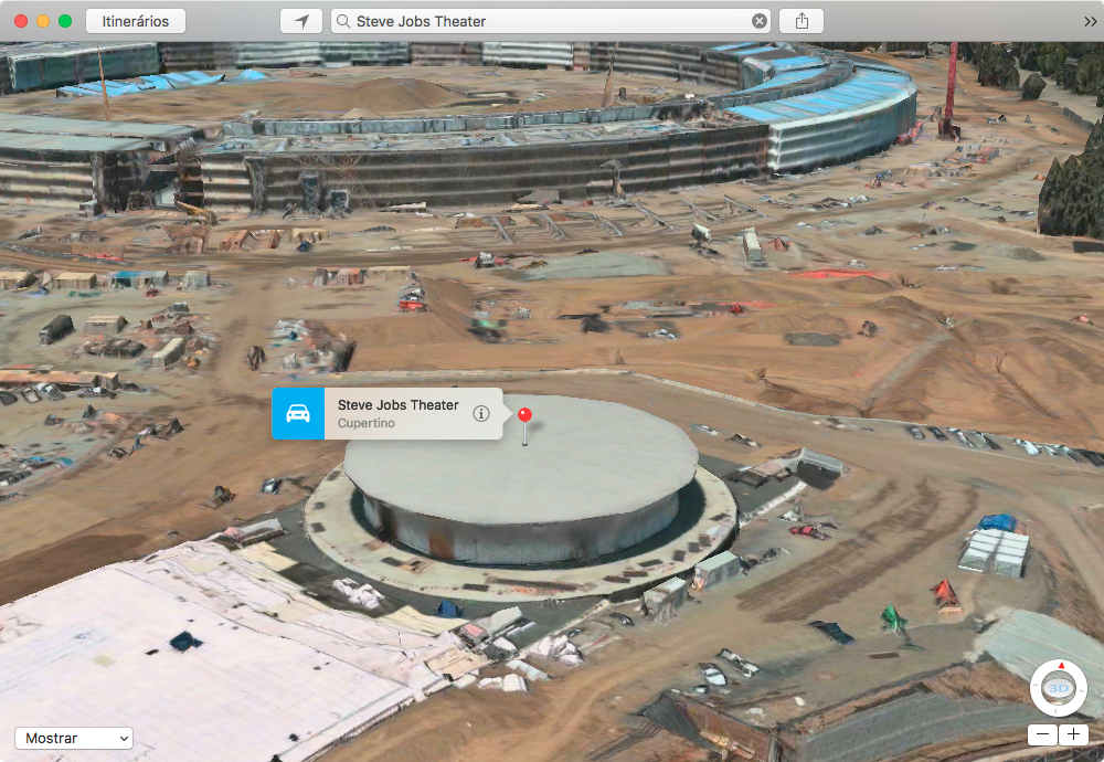 Steve Jobs Theater no Apple Mapas