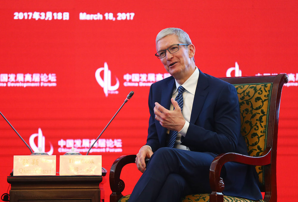 Tim Cook no China Development Forum 2017