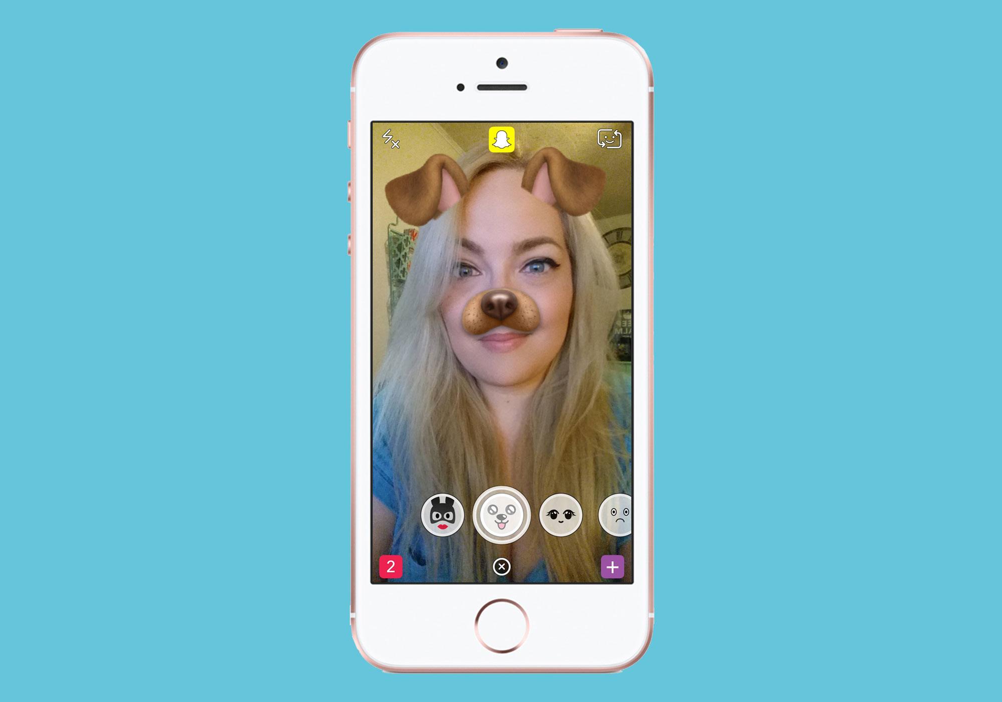 Uso de realidade aumentada no Snapchat