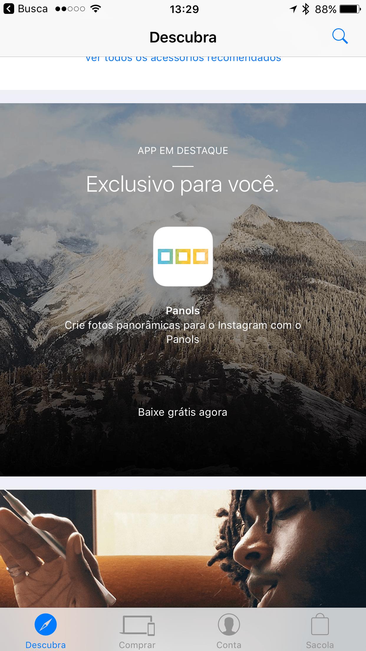 App Panols de graça pelo Apple Store