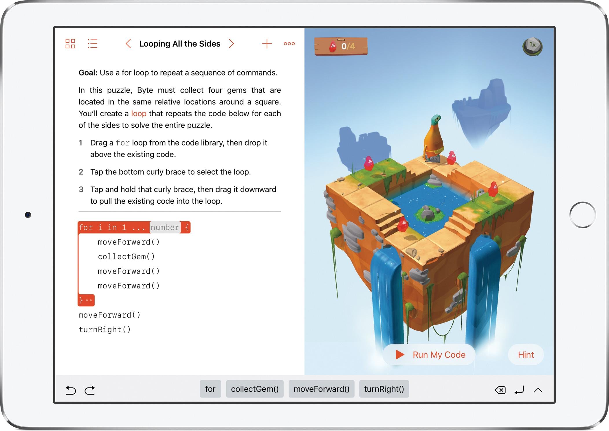 Swift Playgrounds no iPad