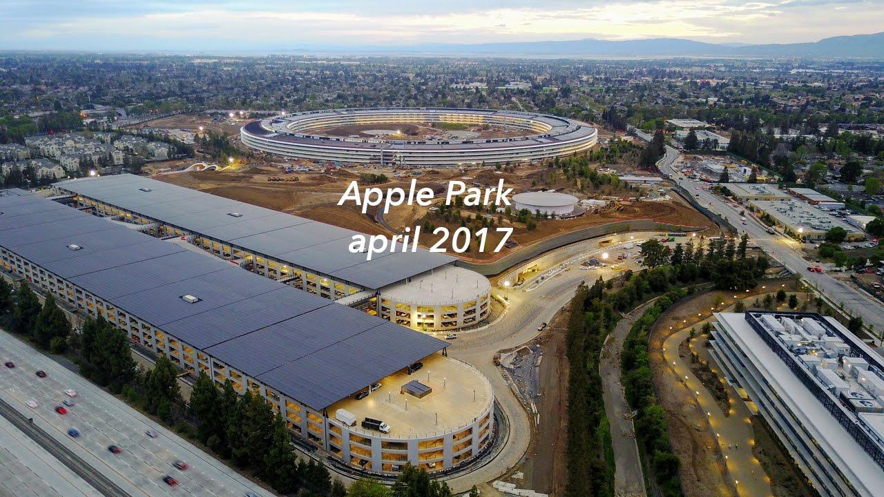 Novo vídeo das obras do Apple Park