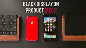 iPhone (RED) com a frente preta
