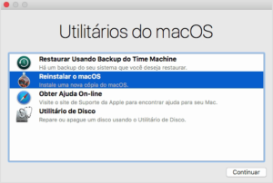 Recuperação do macOS