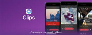 Banner do app Clips na App Store
