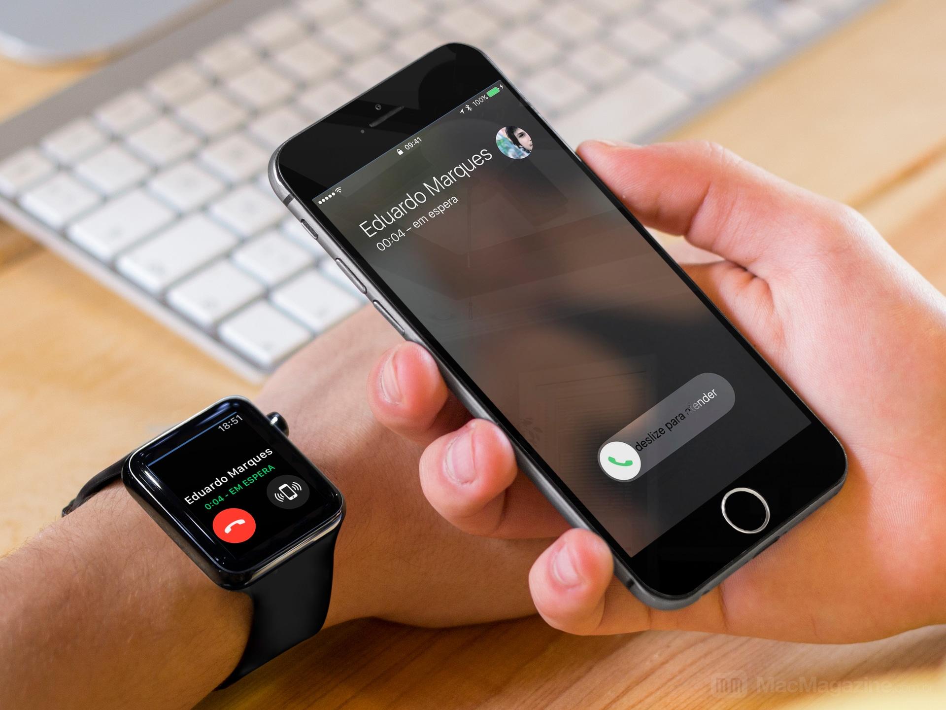 Atendendo ligação no iPhone pelo Apple Watch