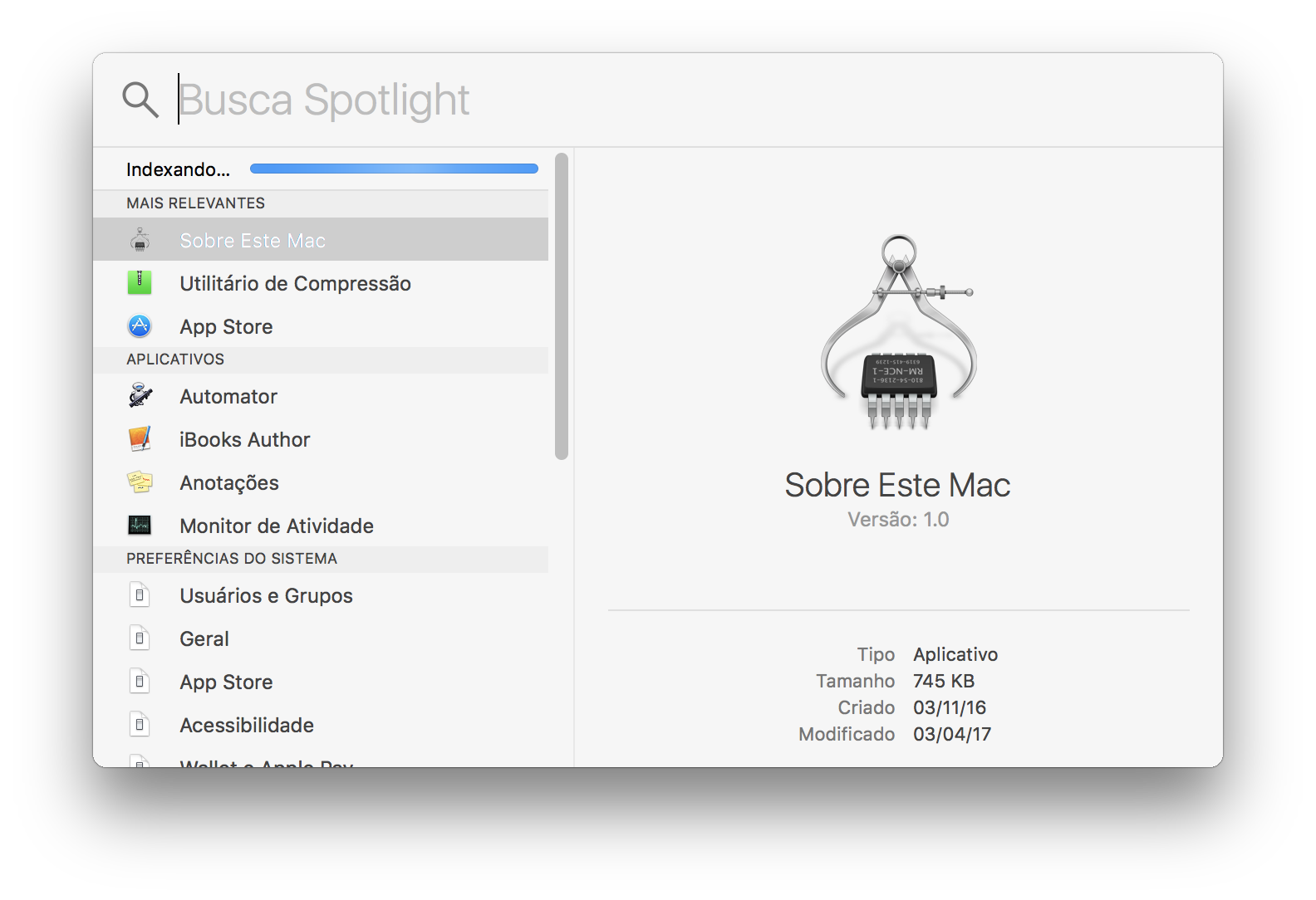 Macintosh HD - Indexando