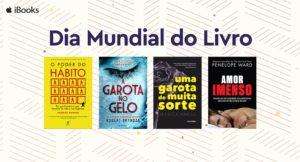 Banner do Dia Mundial do Livro, na iBooks Store