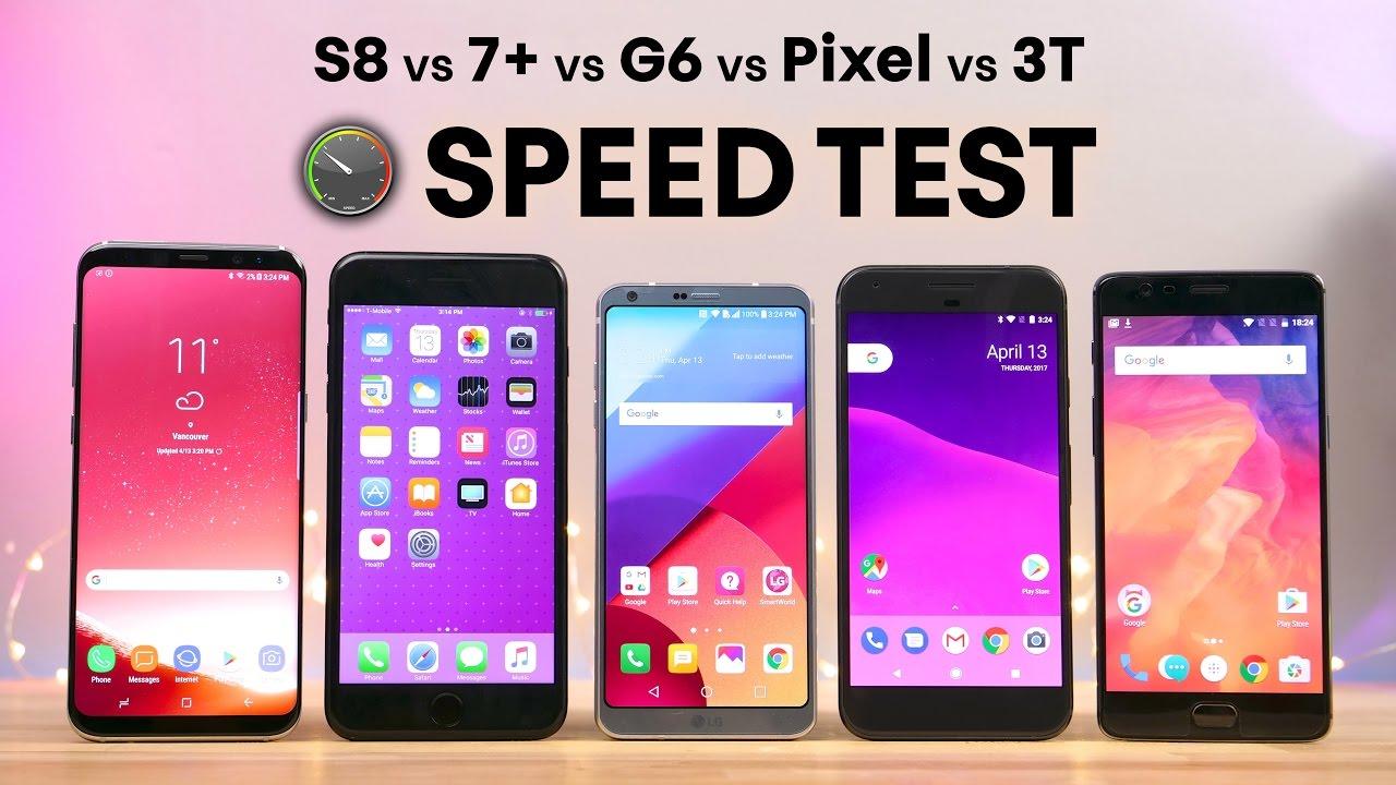 Comparativo de velocidade entre smartphones