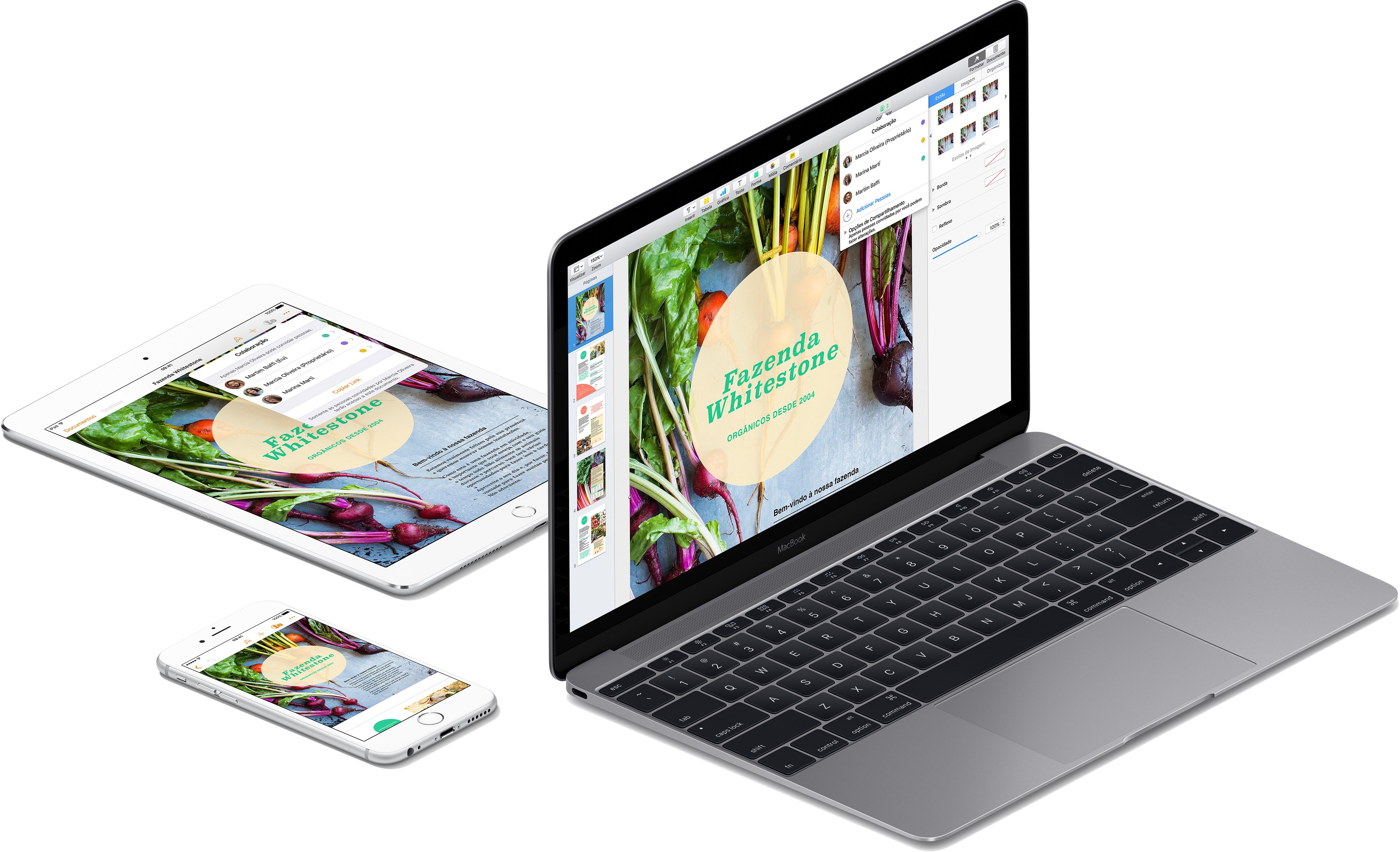 App Keynote para iOS e macOS