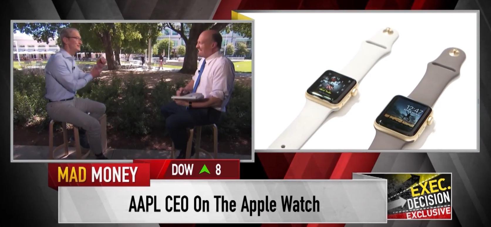 Tim Cook Jim Cramer Apple Watch