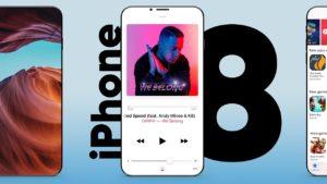 iPhone 8 sem bordas mockup conceito