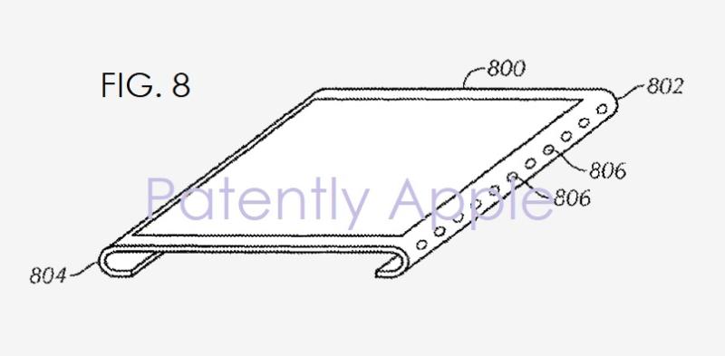 Patente de tela curva e sem bordas da Apple