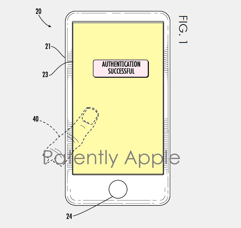 Patente de Touch ID integrado à tela