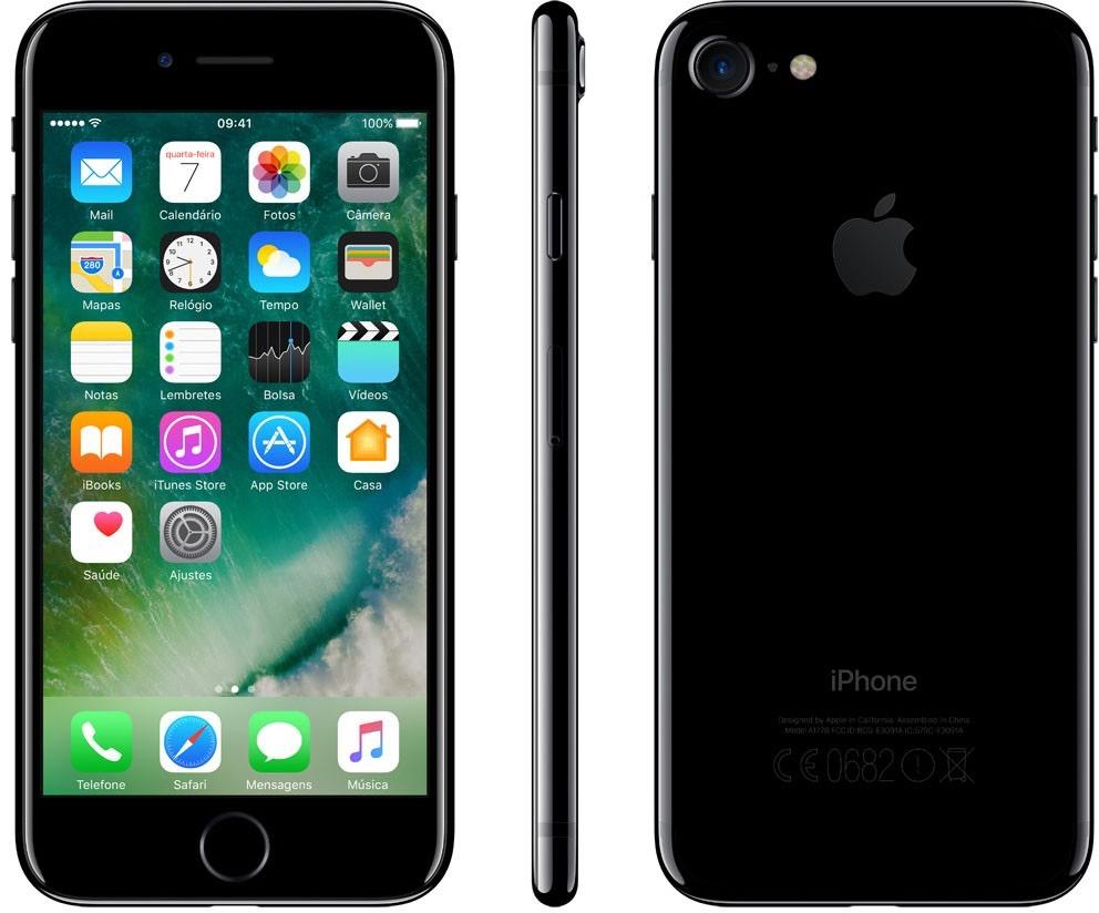 iPhone 7 preto brilhante