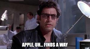 "Jeff Goldblum em ""Jurassic Park"""
