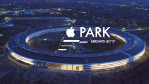 Apple Park à noite