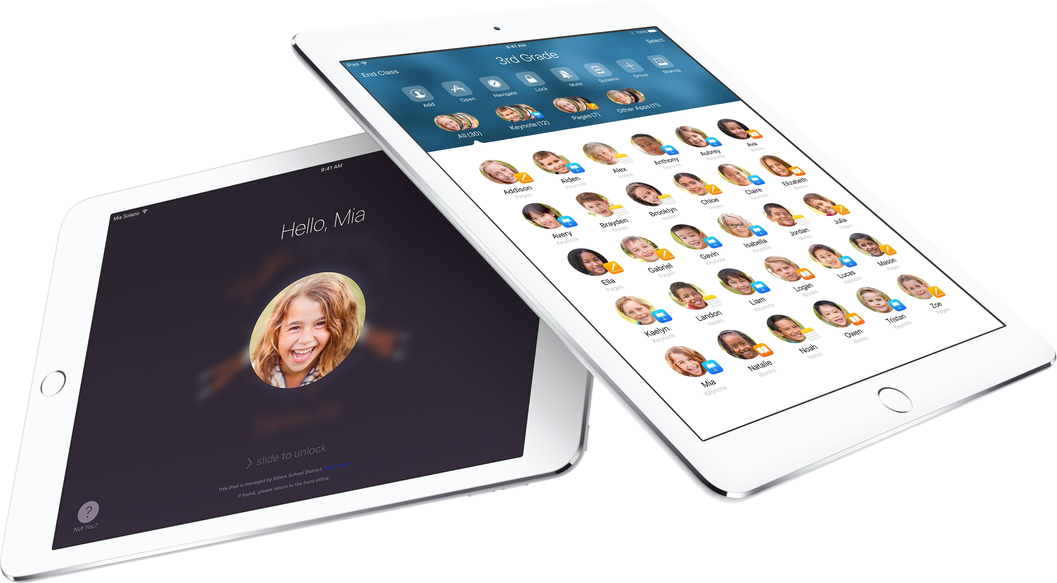 App Sala de Aula (Classroom) em iPads