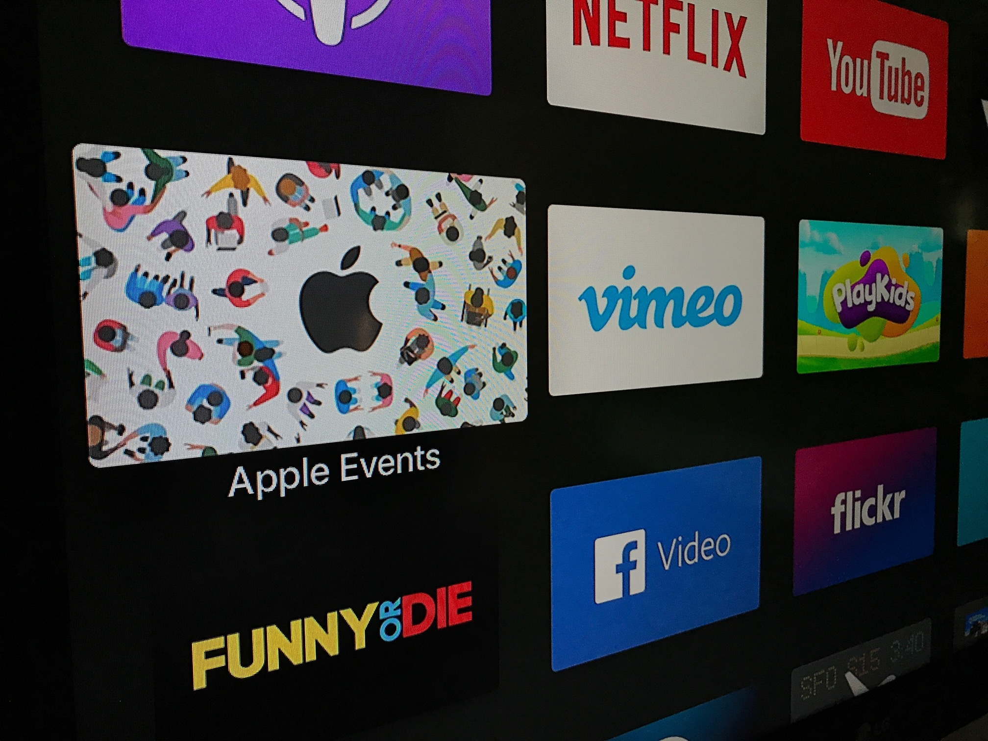Canal da WWDC na Apple TV