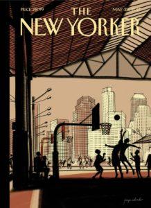 Capa do The New Yorker feita em um iPad Pro