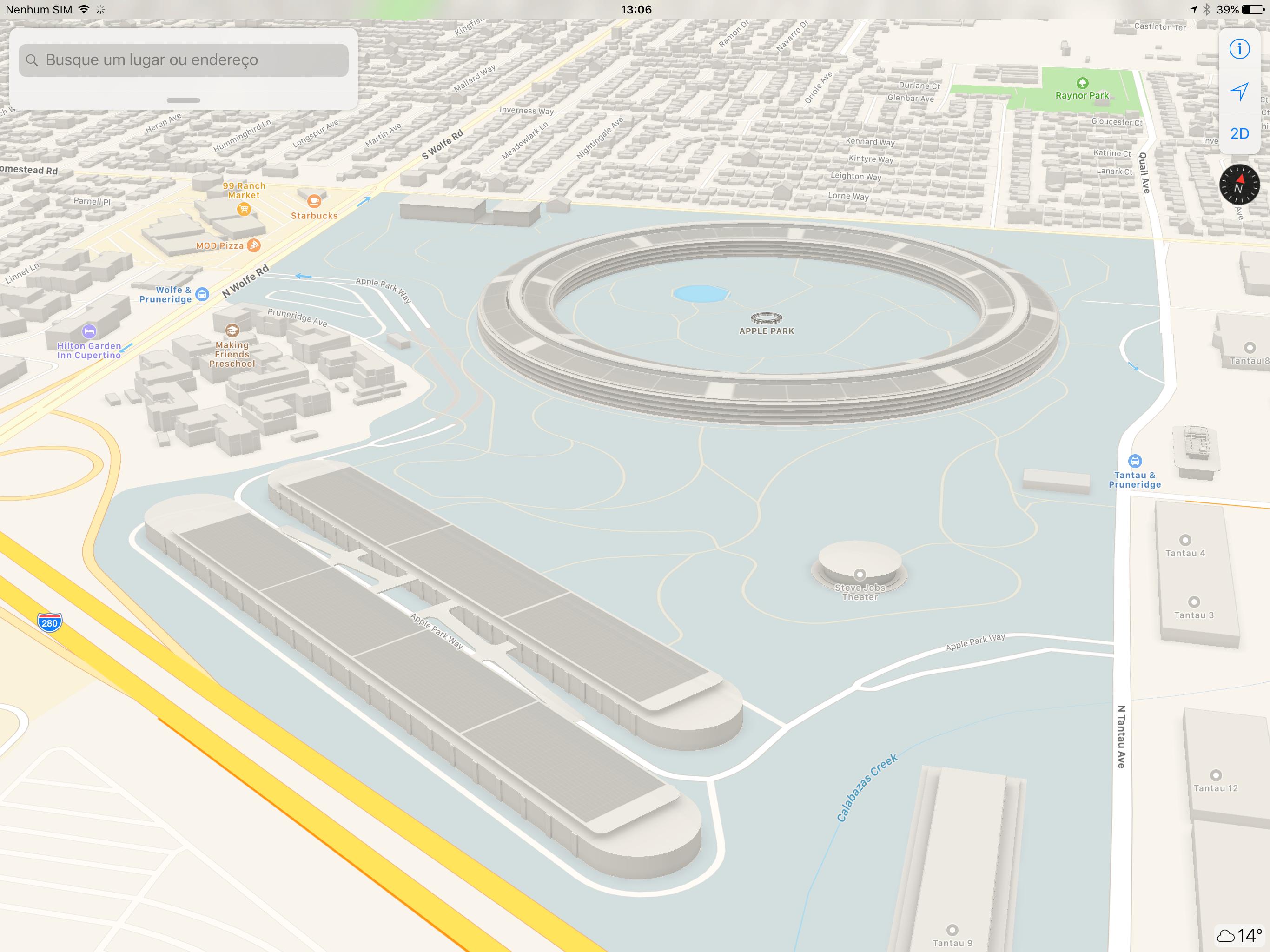 Apple Park em 3D no Maps