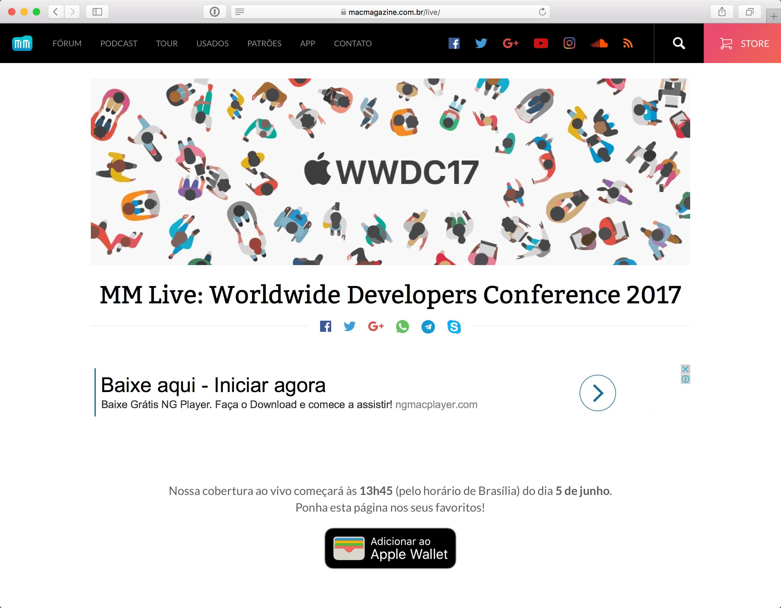 MM Live da WWDC'17