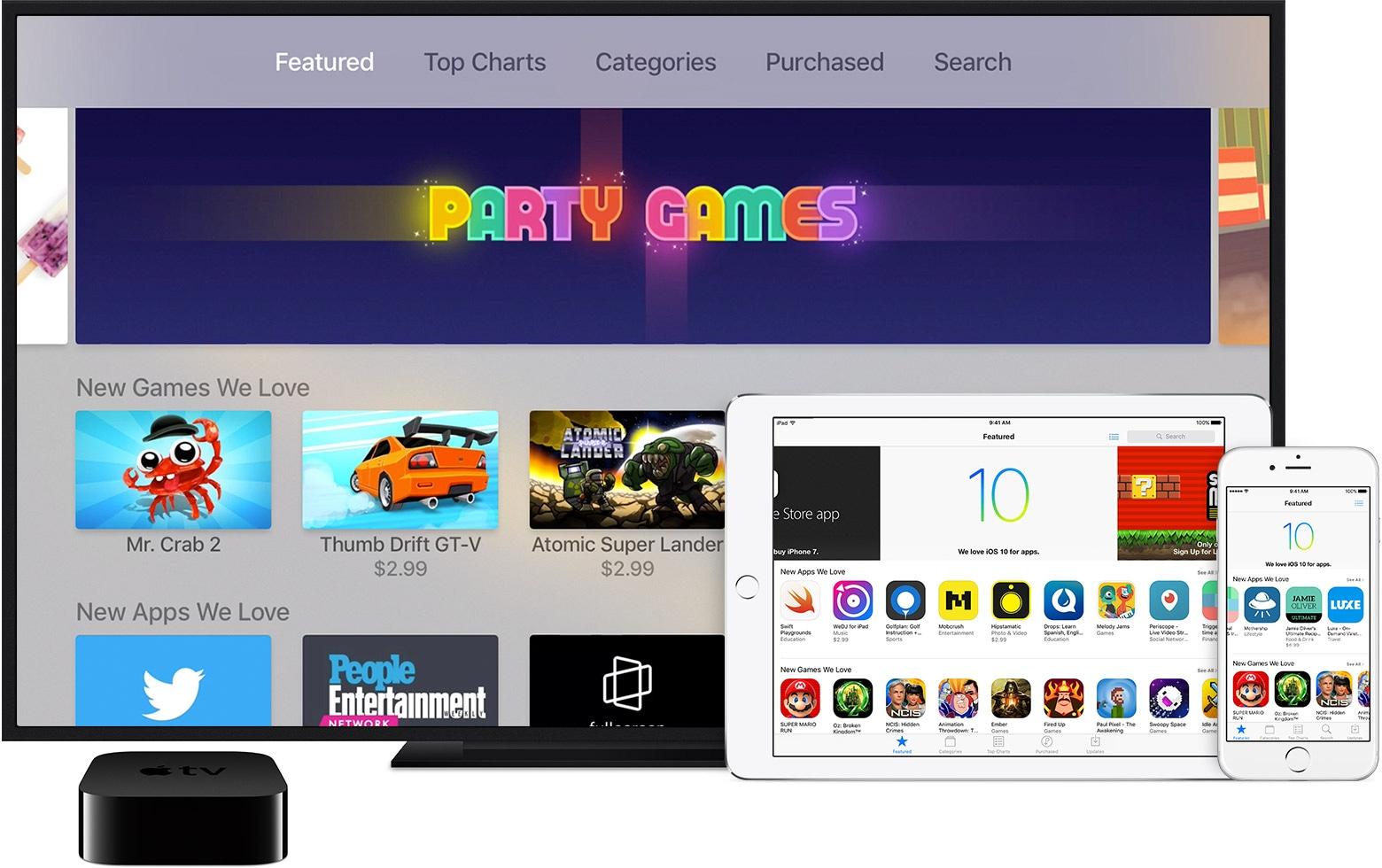 App Store da Apple em vários dispositivos