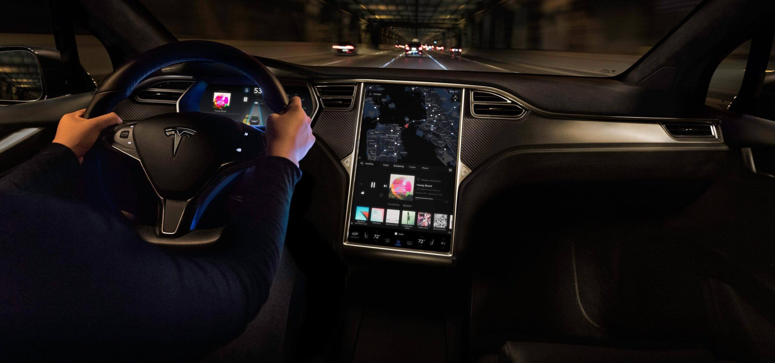 Interior do Tesla Model X