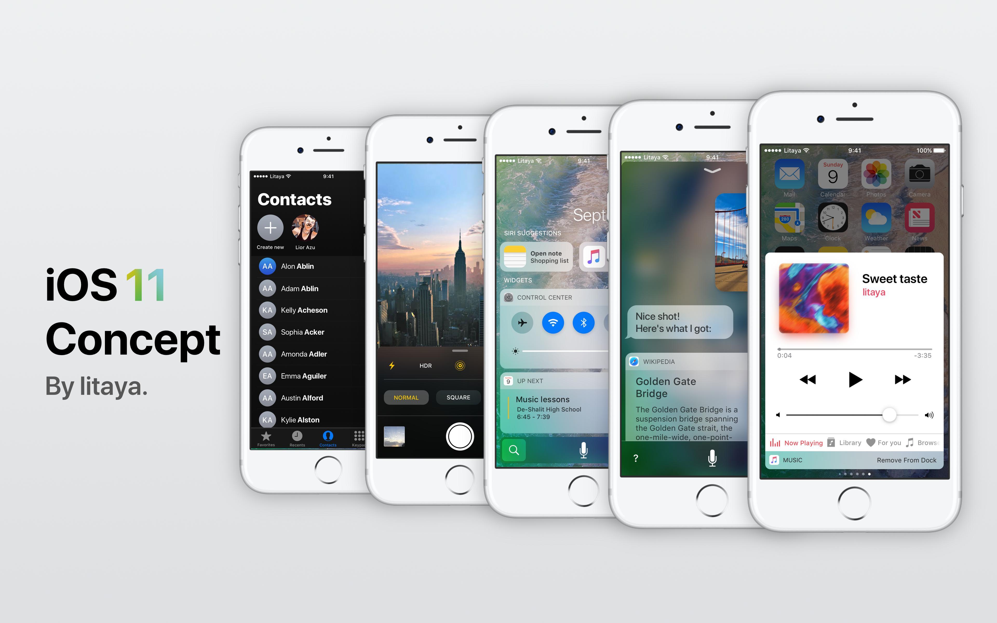 Conceito iOS 11 Litaya
