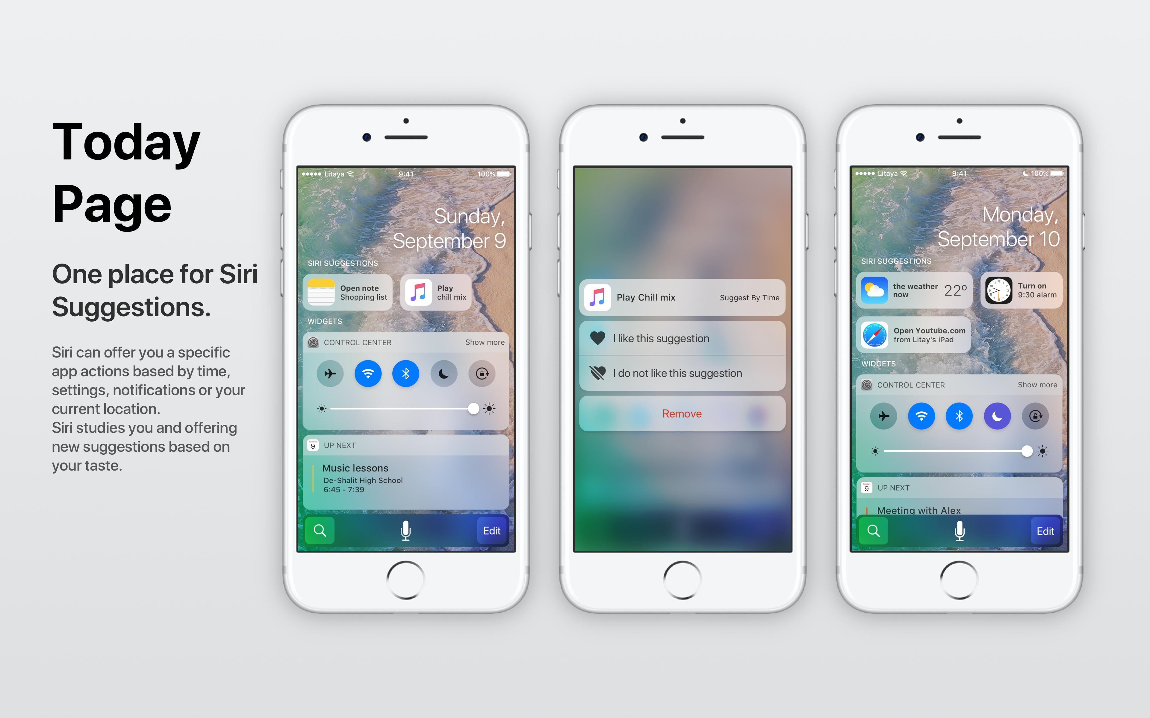 Conceito iOS Sugestões da Siri