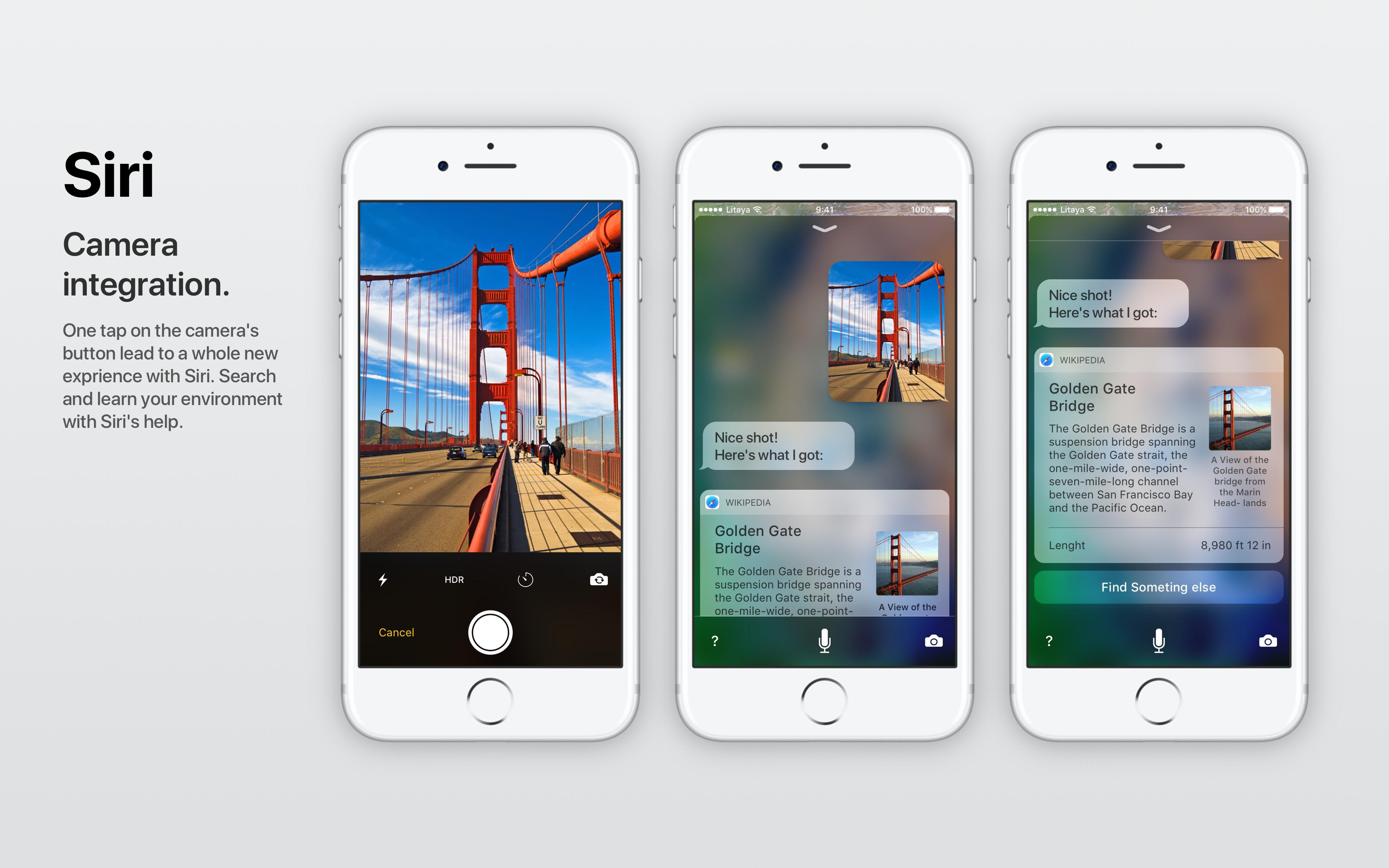Conceito iOS camera Siri