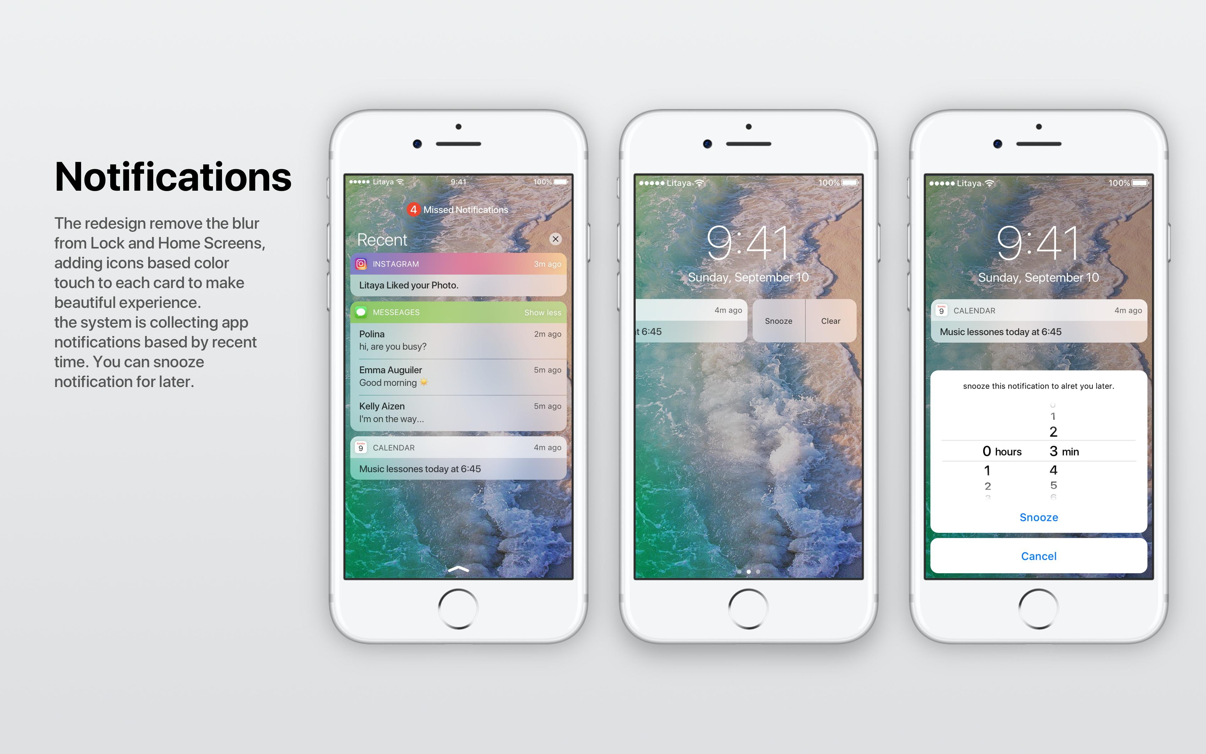 Conceito iOS central de notificações