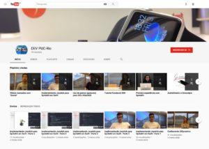 Canal DEV PUC-Rio no YouTube