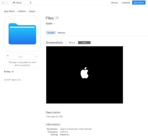Files na App Store