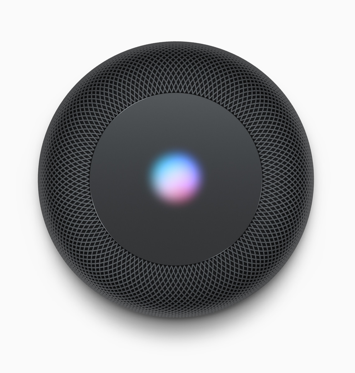 Black top homePod with Siri