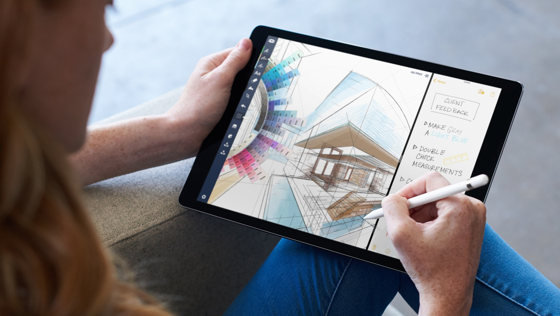 Apple Pencil no iPad Pro com iOS 11