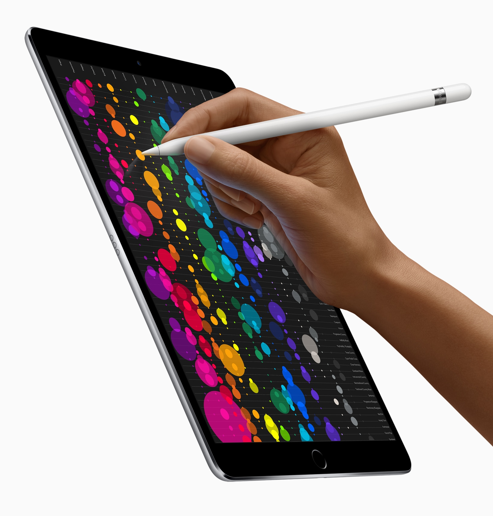 Apple Pencil no iPad Pro de 10,5 polegadas